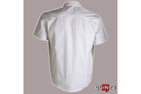 férfi fehér lenvászon ing hátulról