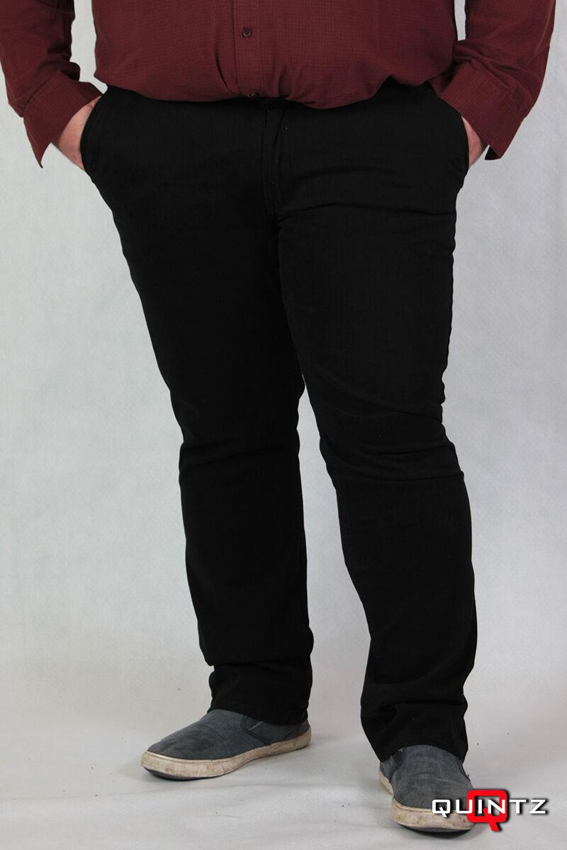 6d65c0a517 Fekete vágott zsebű férfi nagyméretű szövet nadrág