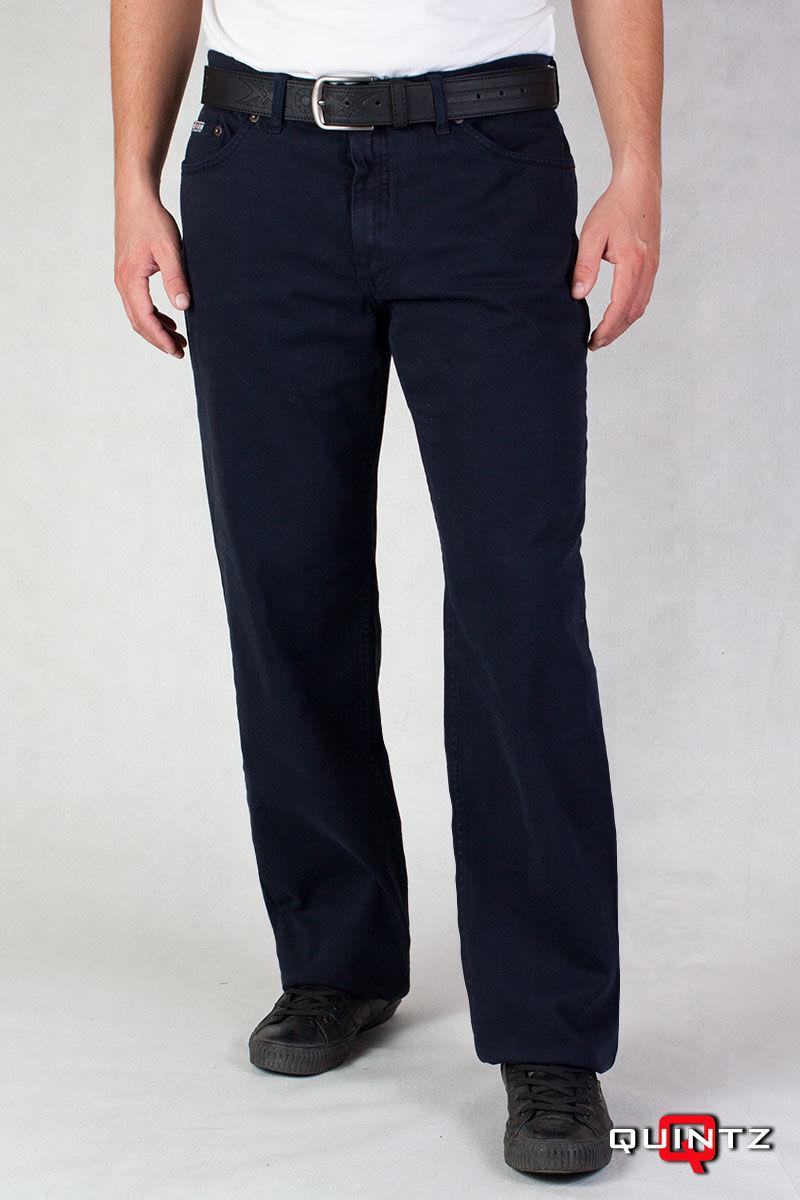 férfi egyenes szárú kék szövet nadrág