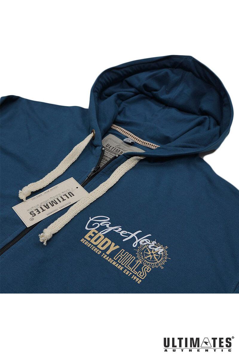 kék extra méretű pulóver
