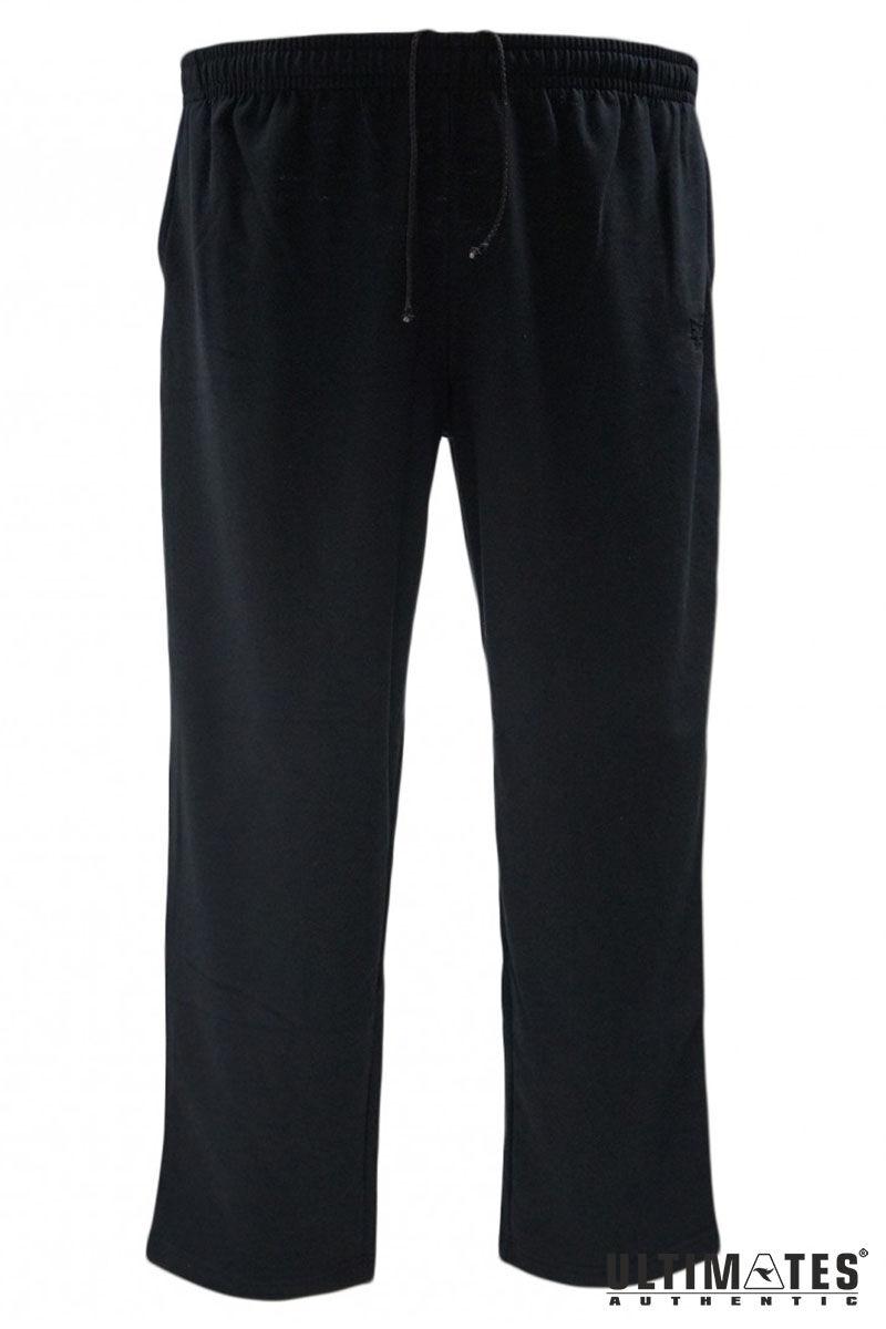 nagyméretű férfi fekete szabadidő nadrág