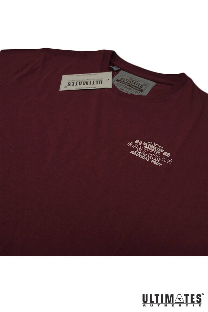 bordó kis mintás póló extra méretben
