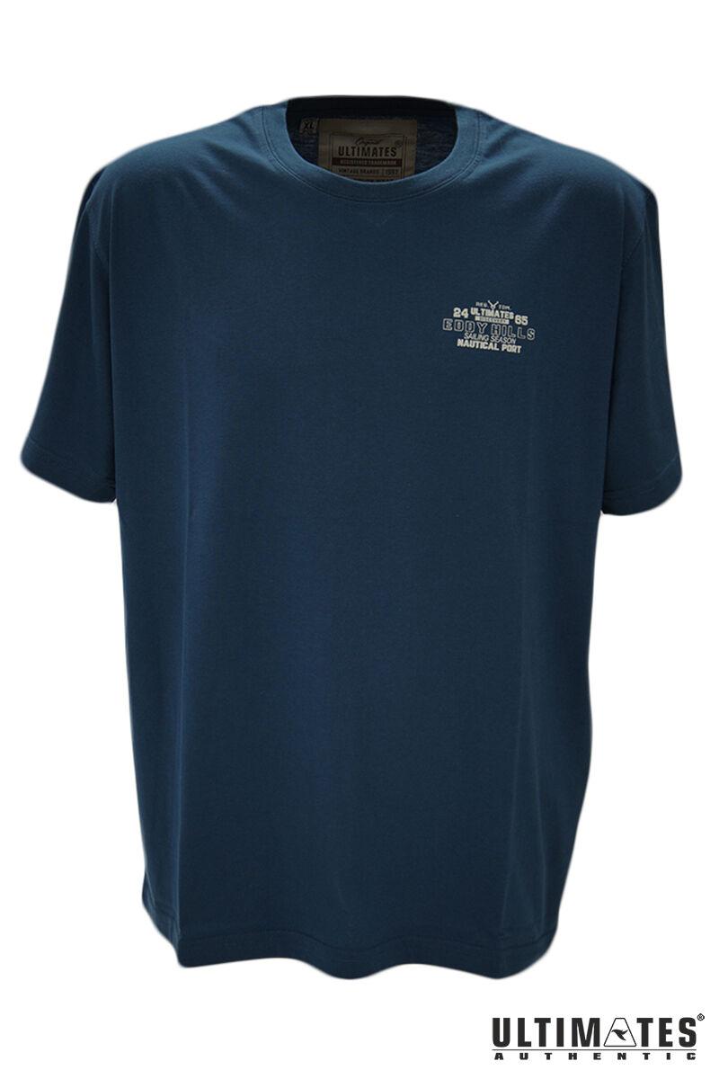 Férfi kismintás kék póló