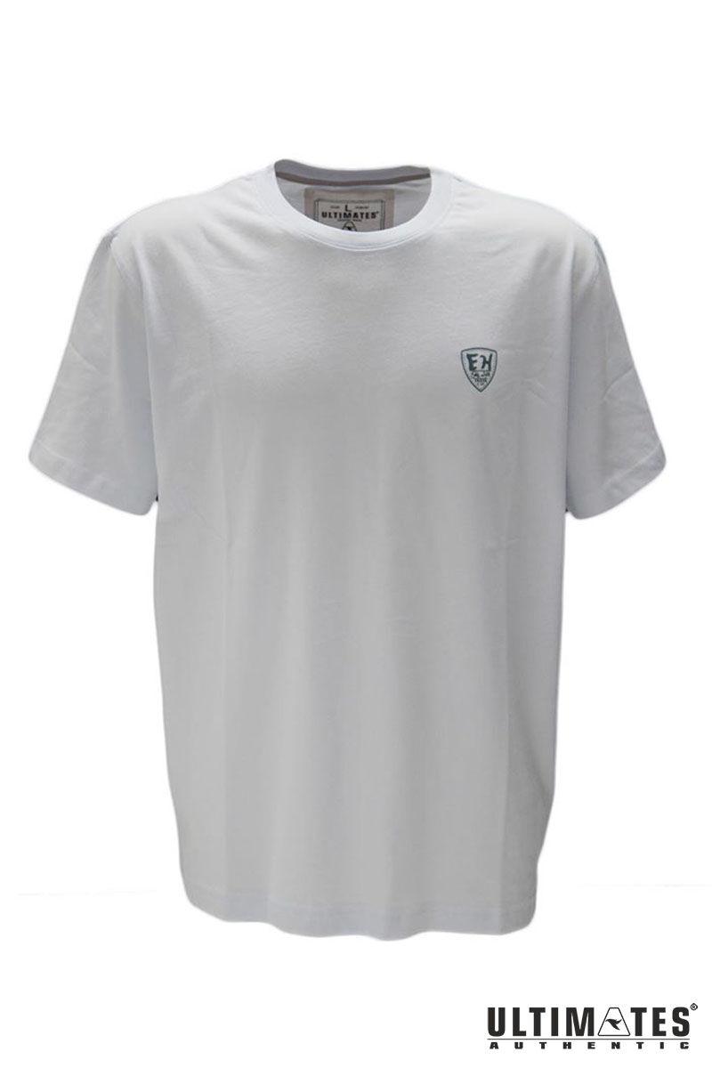Férfi nagyméretű fehér póló kis mintával
