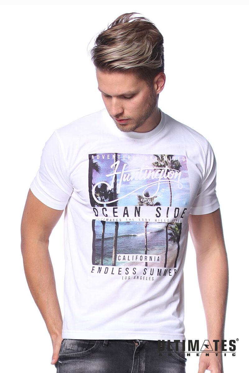 Férfi pálmafa mintás póló