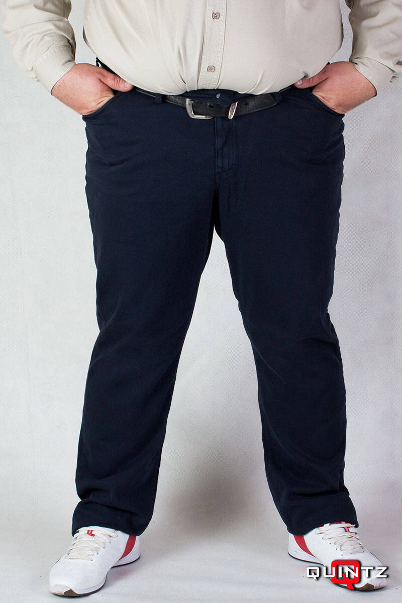 férfi nagyméretű kék szövet nadrág