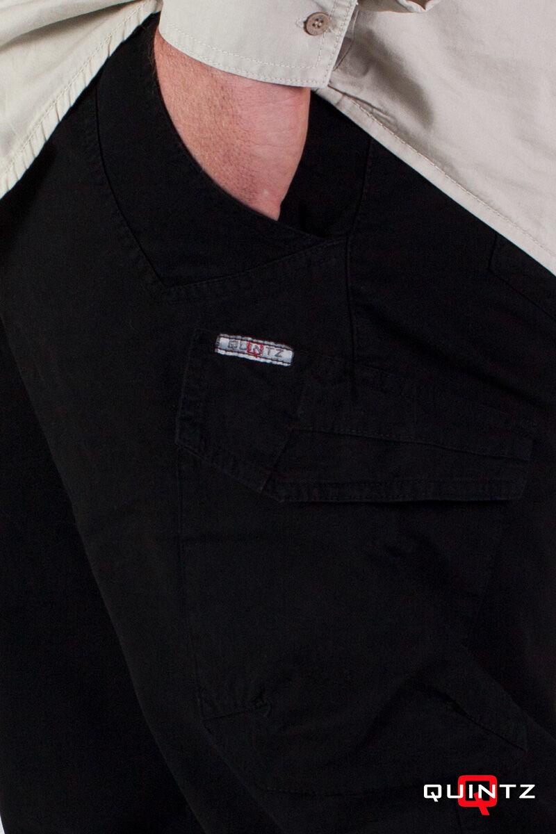oldalzsebes fekete nadrág