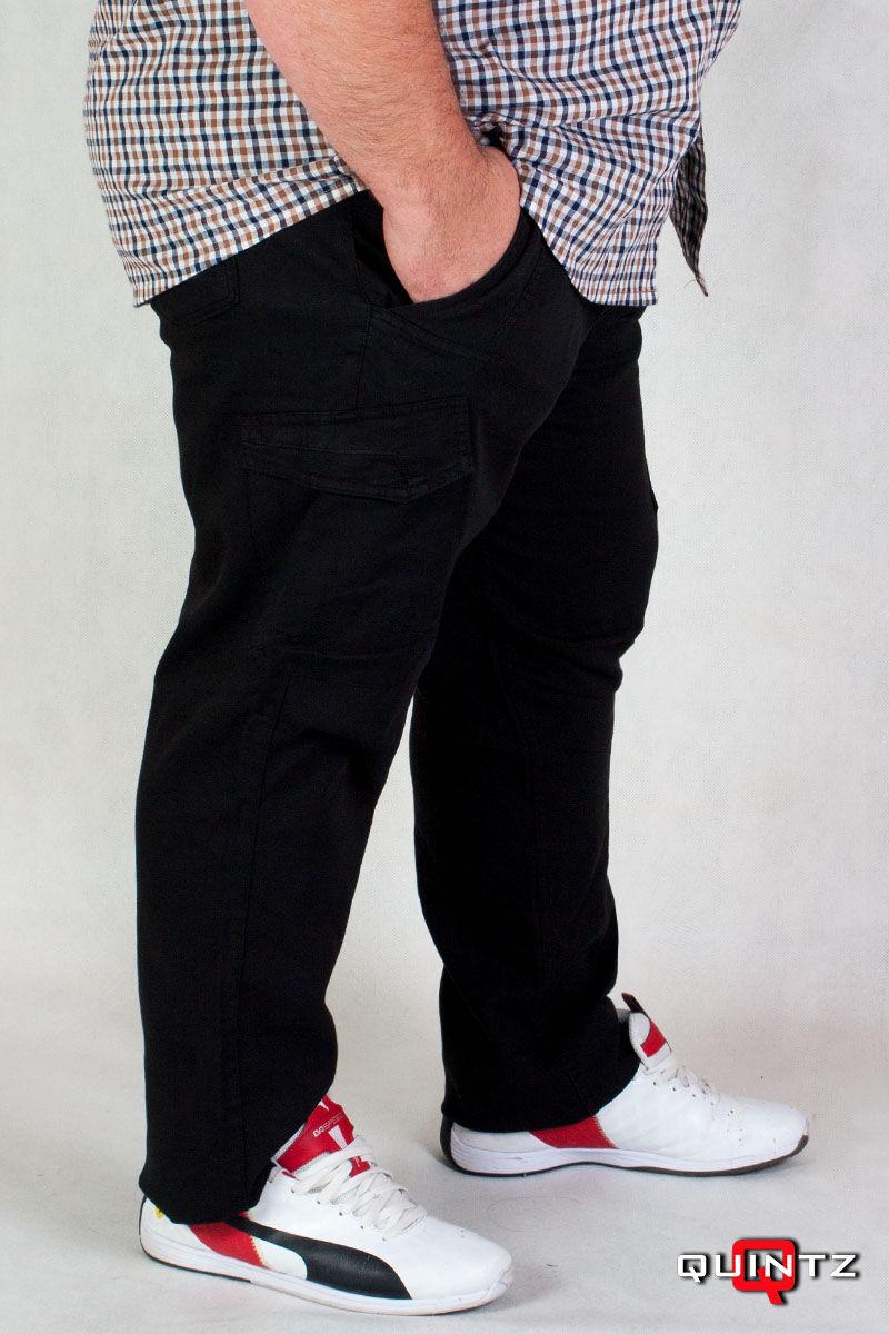 fekete oldalzsebes nagyméretű nadrág