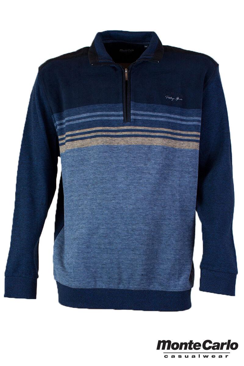 Férfi kék galléros pulóver