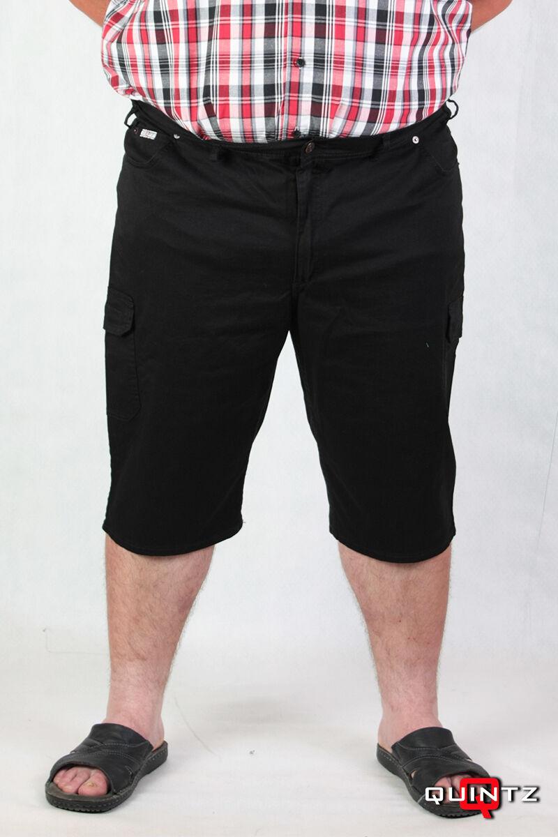 Férfi nagy méretű fekete rövidnadrág