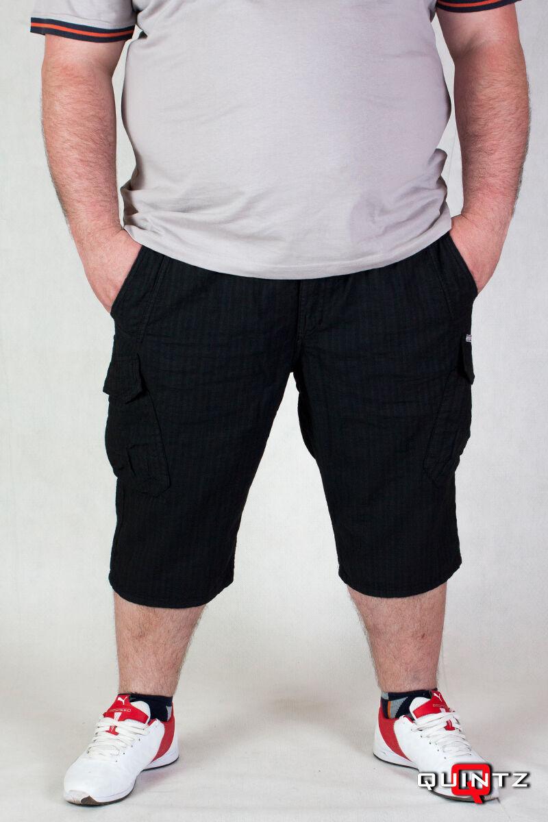 férfi nagyméretű fekete rövidnadrág