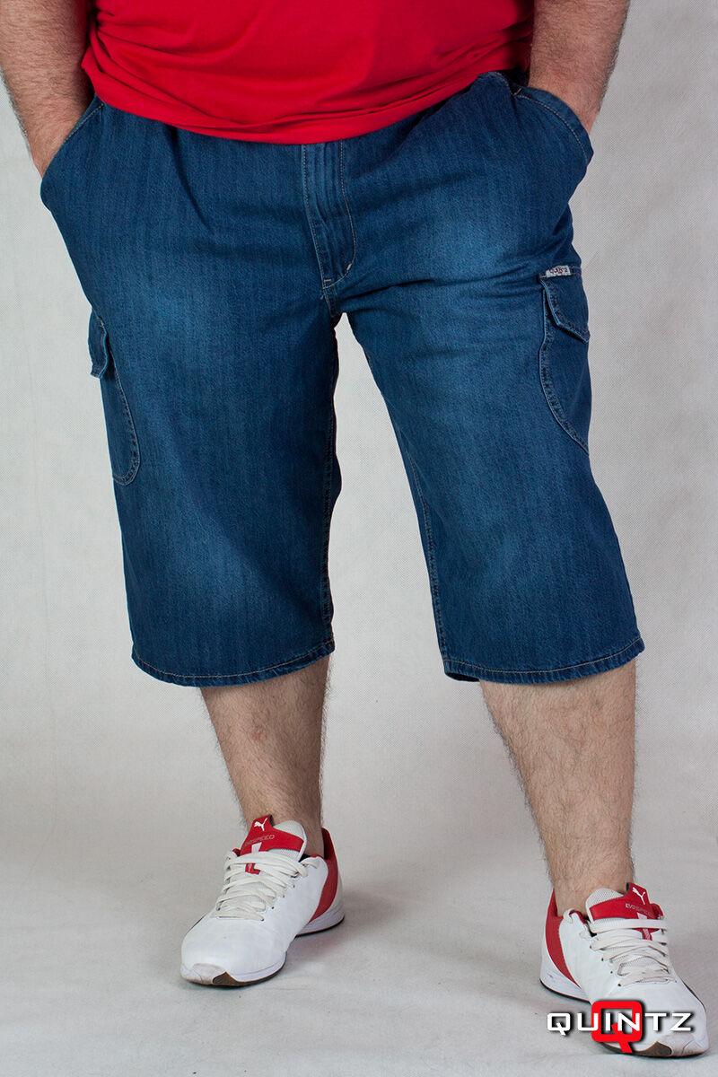 férfi nagyméretű farmer bermuda nadrág