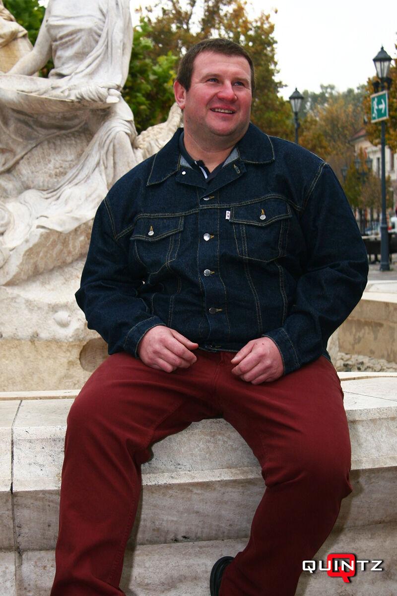 férfi nagy méretű farmerkabát