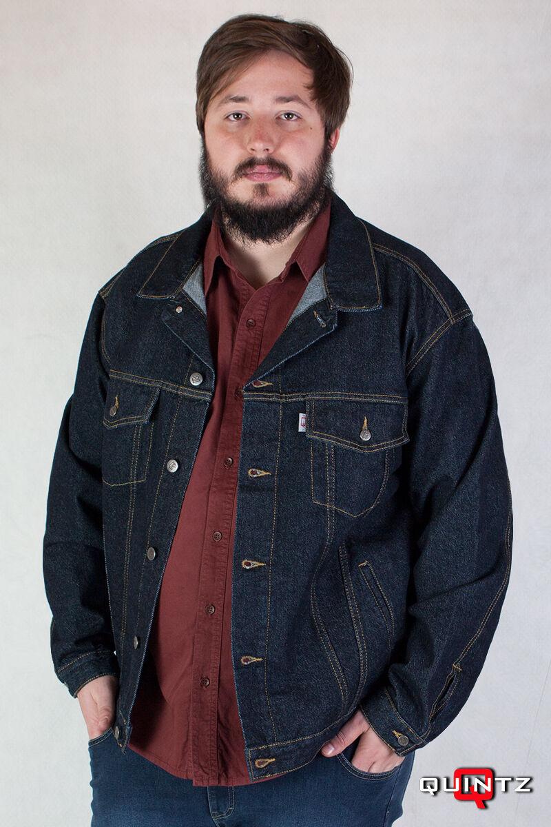férfi nagy méretű blueblack dzseki