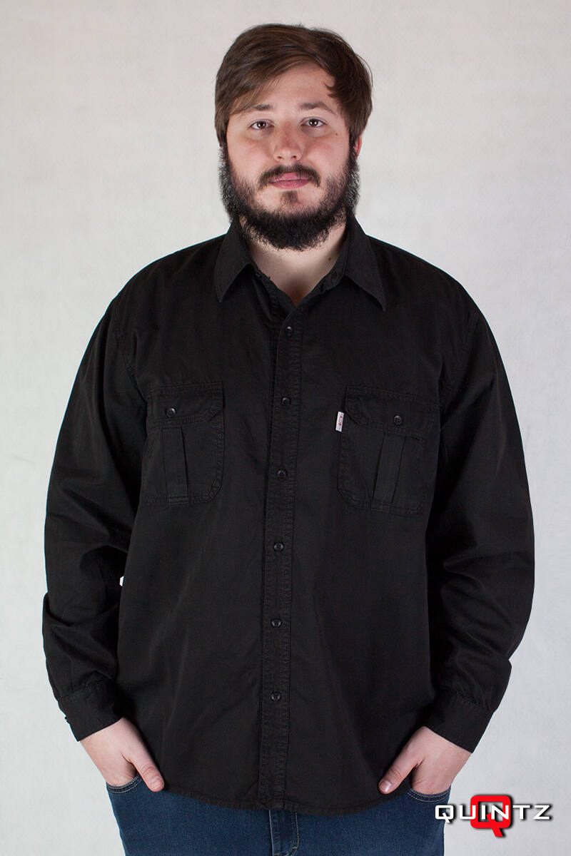férfi hosszú ujjú pamut ing