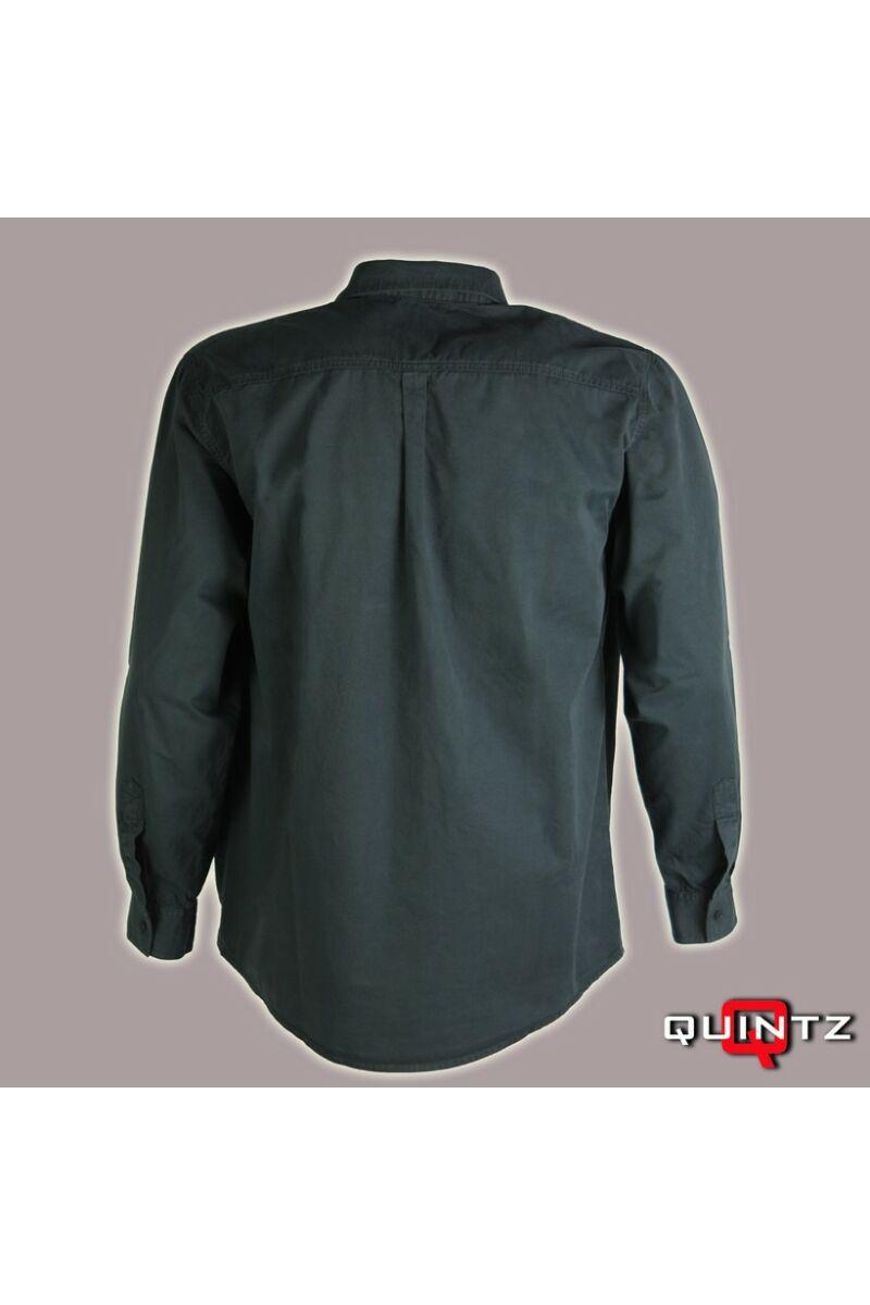 férfi hosszú ujjú pamut ing hátulról