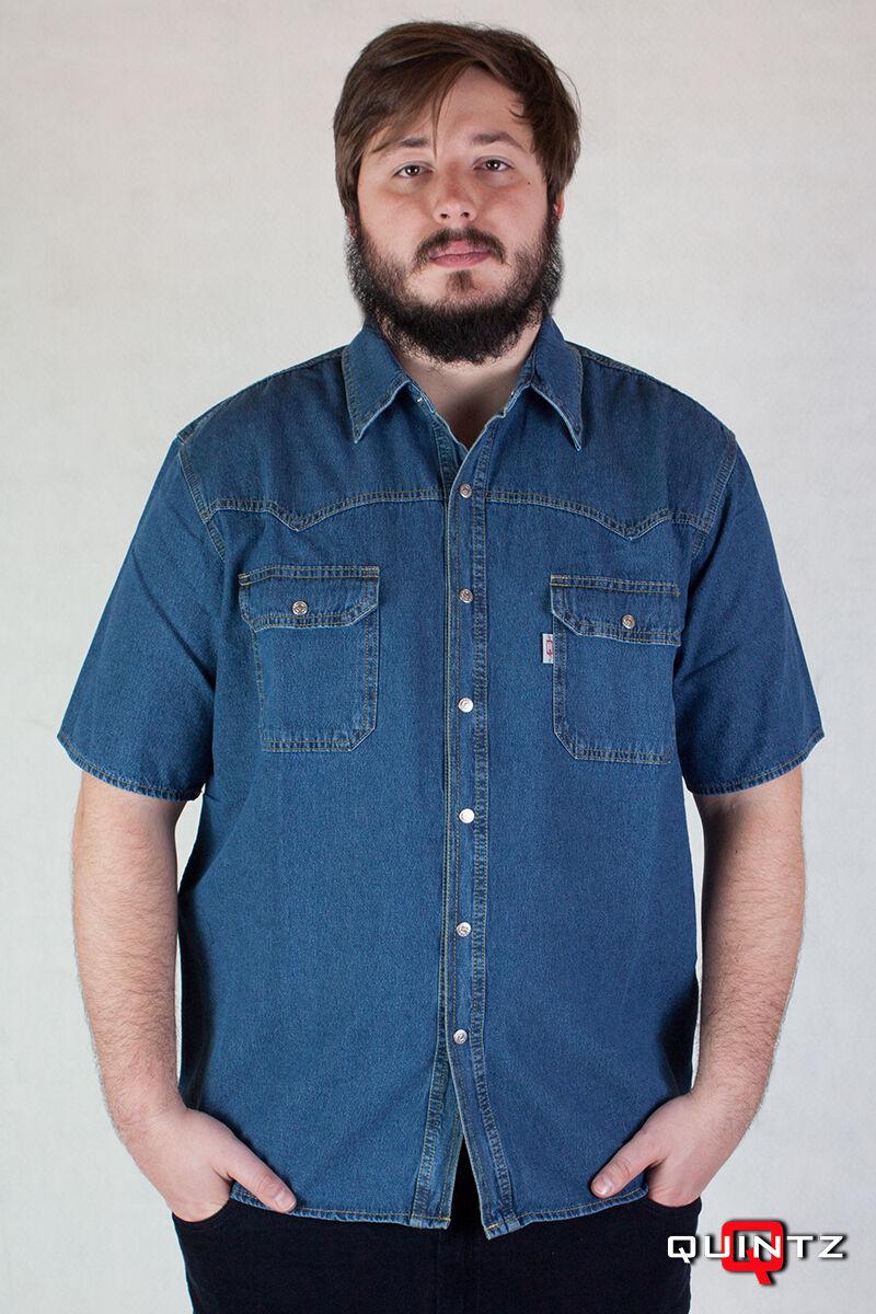 férfi nagy méretű kék farmering