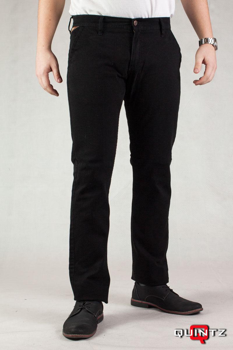 fekete vágott zsebű nadrág
