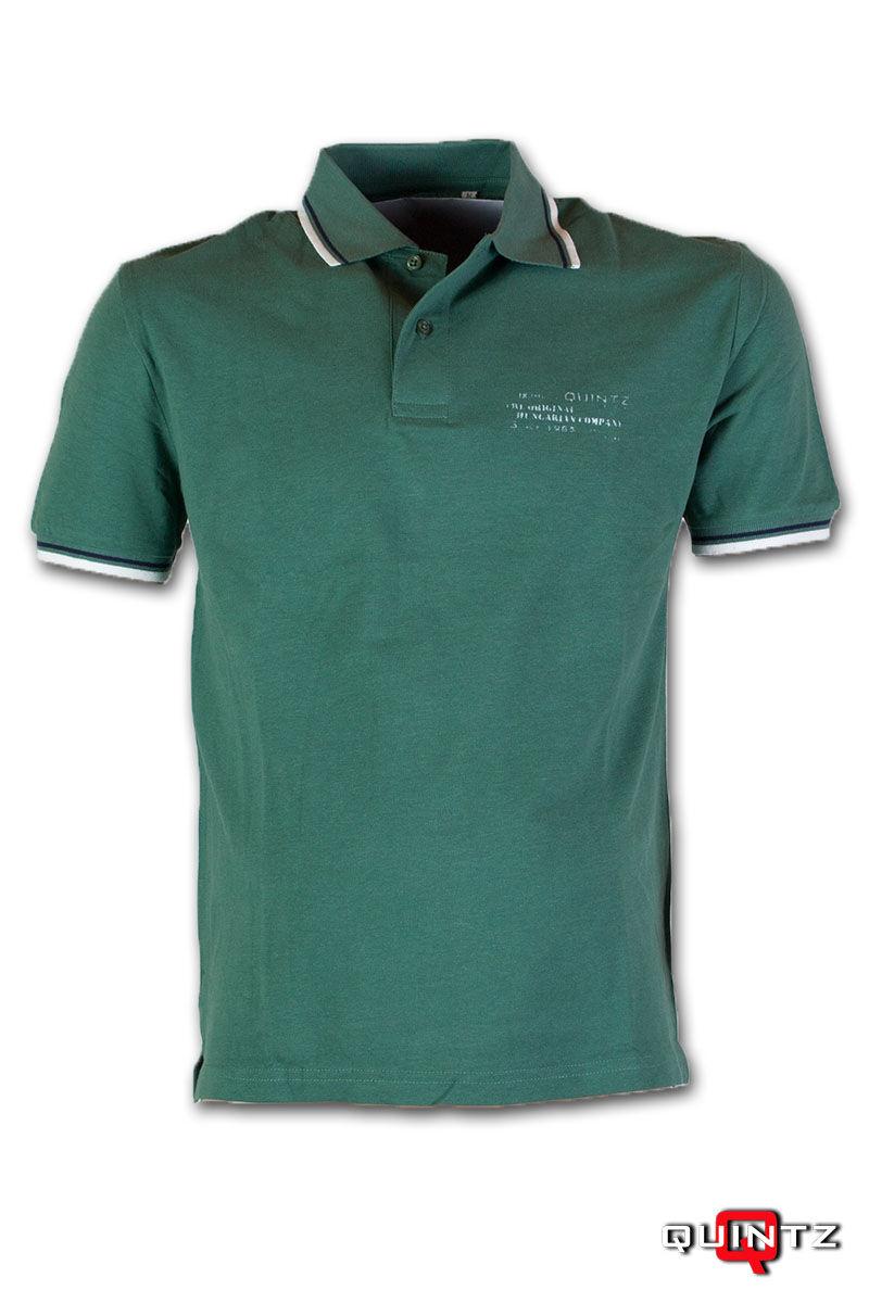 férfi galléros zöld póló