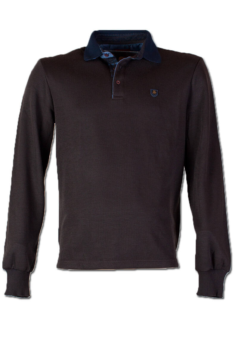 férfi barna pulóver