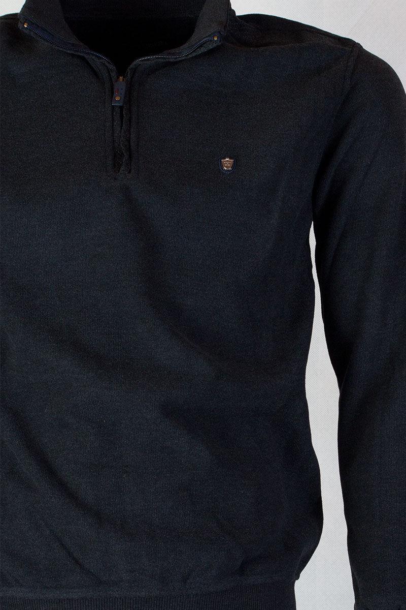 sötét szürke férfi pulóver
