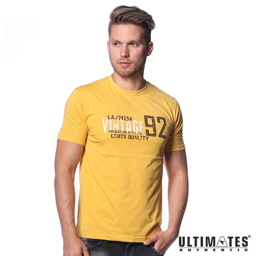 Férfi nagyméretű sárga póló