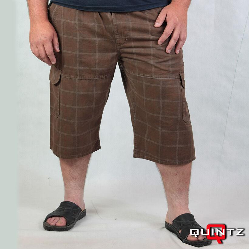 kockás gumis derekú rövidnadrág
