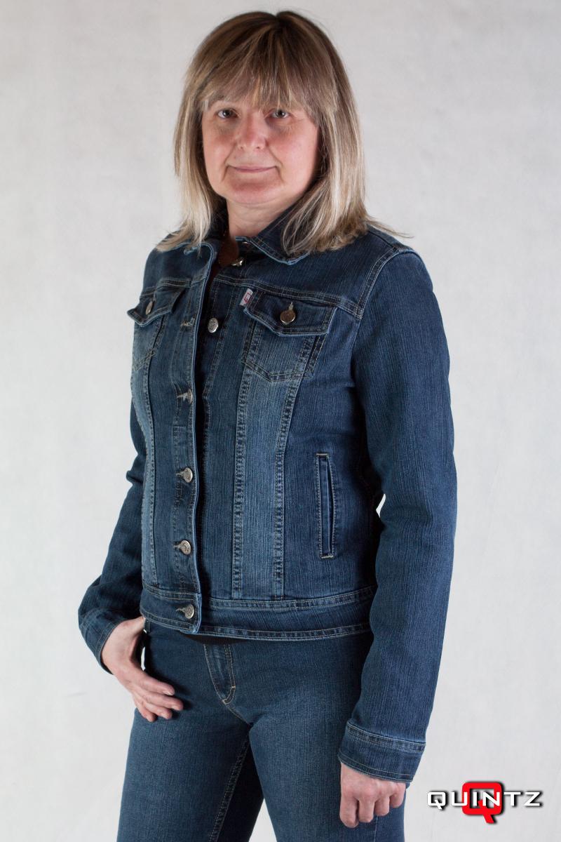 M-5XL Női karcsúsított kék farmerdzseki 1a2e8cf6af