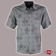pálmafa mintás férfi ing