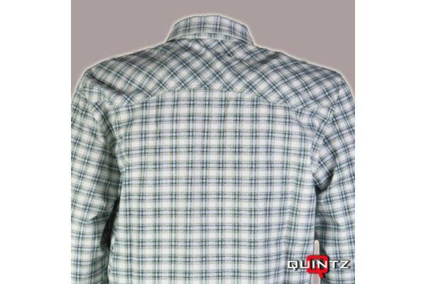 férfi kockás flanel ing hátulról
