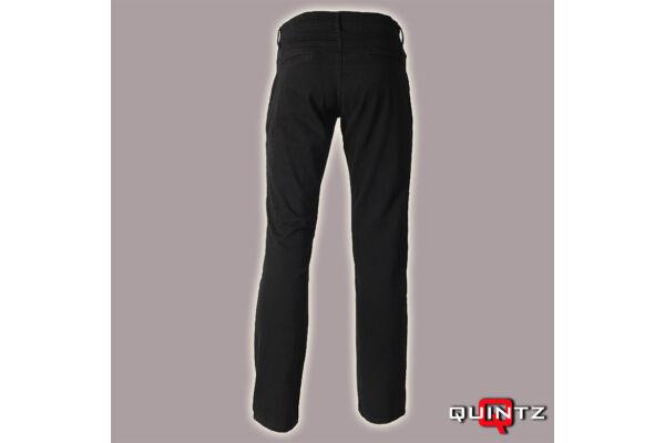 fekete vágott zsebű nadrág hátulról