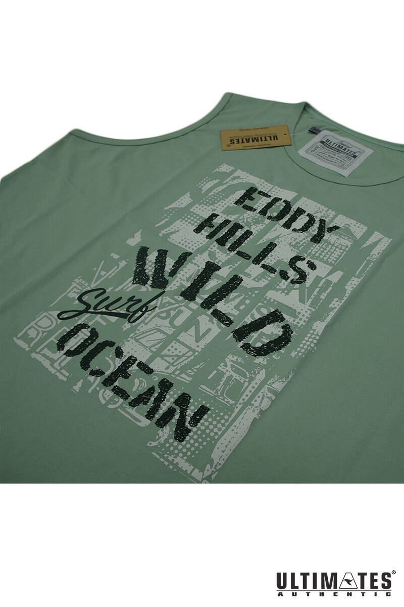 pisztácia zöld színű ujjatlan póló