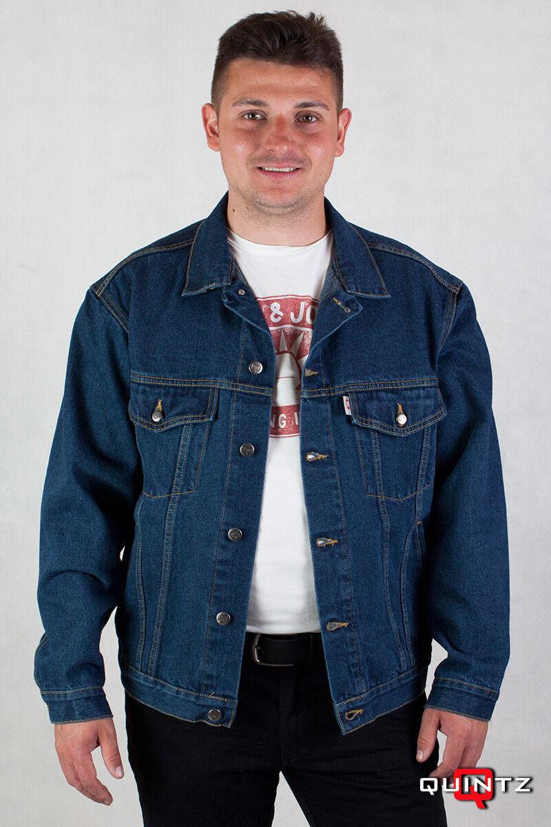 kék nagyméretű férfi farmerdzseki