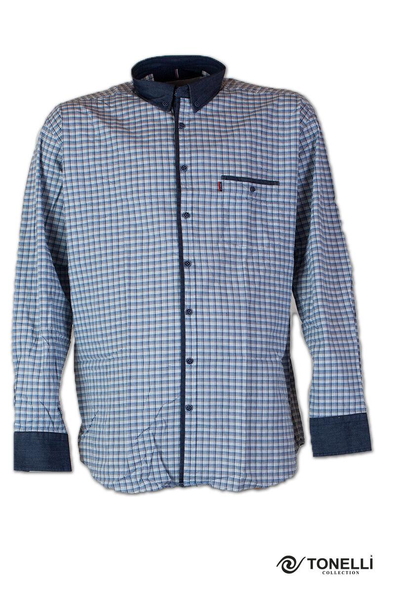 férfi nagyméretű kockás ing